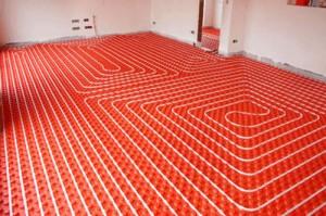 Podlahové vytápění - litá podlaha - anhydrit
